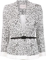 Carolina Herrera dots print peplum jacket