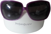 Saint Laurent Purple Plastic Sunglasses