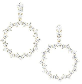 Adriana Orsini Tivoli Gold-Plated Silver Cubic Zirconia Open Circle Earrings
