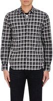 Ovadia & Sons Men's Plaid Cotton Shirt