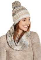 David & Young Space Dye Beanie & Infinity Scarf Set
