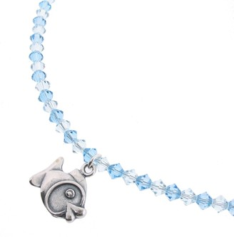 Swarovski Chic A Boo Children's Fish charm on Crystal Necklace CN008 with Aquamarine Crystals