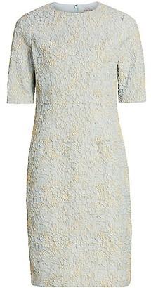 Teri Jon by Rickie Freeman Metallic Jacquard Dress