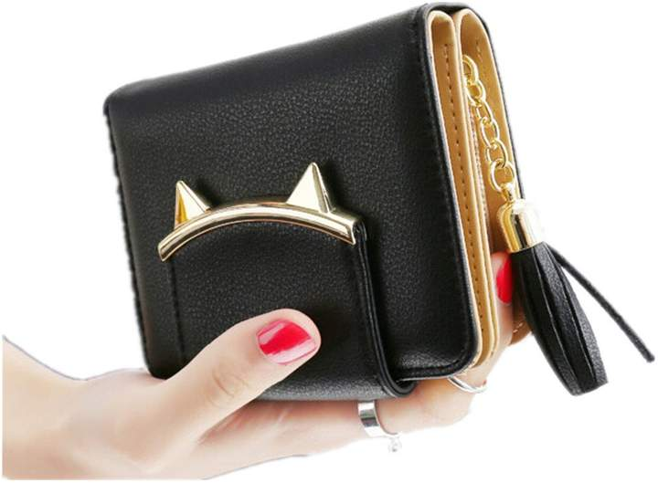 b361f5cd6378 Smile-YZ Lovely Cat Ears Coin Purse for Ladies Small Wallet Money Clip Card  Case