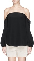 Theory 'Laureema' silk off-shoulder bustier top