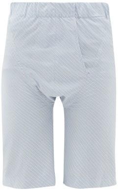 Edward Cuming - Brief-front Cotton Shorts - Blue White