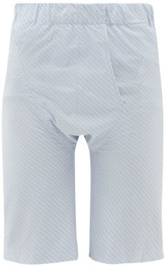 Edward Cuming - Brief-front Cotton Shorts - Mens - Blue White
