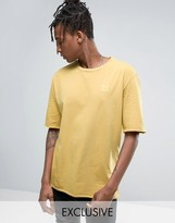 Puma Distressed Oversized T-Shirt In Yellow Exclusive To ASOS 57530702
