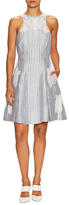 Jonathan Simkhai Lattice Linen Lace Fit And Flare Dress