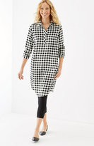 J. Jill Gingham Rayon-Twill Shirtdress