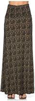2LUV Women'sAbstract Print Knit Floor Length Maxi Skirt M (ASK-9001PS-G14)