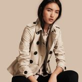 Burberry Stretch Cotton Skirted Trench Jacket