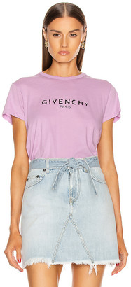 Givenchy Fitted Short Sleeve T Shirt in Mauve | FWRD