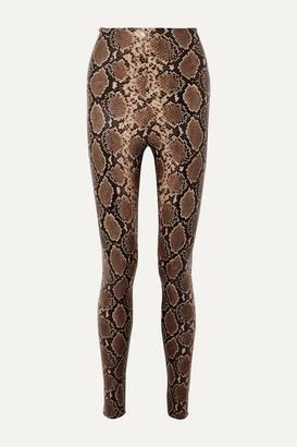 Commando Snake-effect Faux Stretch-leather Leggings - Snake print