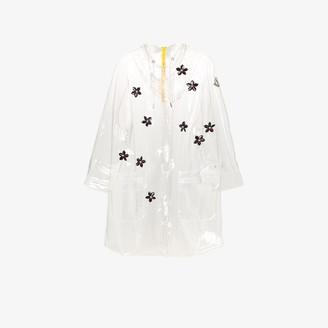 MONCLER GENIUS 4 Moncler Simone Rocha floral applique raincoat
