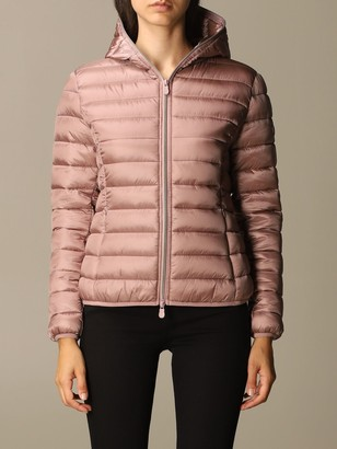Save The Duck Irisy Down Jacket In Light Nylon With Hood