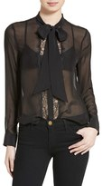 Equipment Women's Leema Tie Neck Silk Blouse
