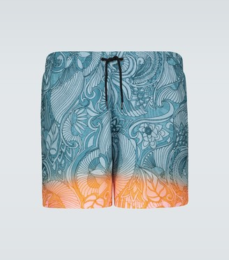 Dries Van Noten Dip-dye printed swim shorts