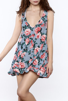 Show Me Your Mumu Floral V Neck Mini