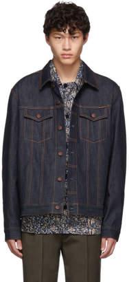 Nudie Jeans Blue Denim Dry Ring Jacket