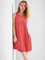 Gap Tie V-back shift dress
