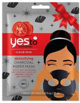 Yes To Tomatoes Detoxifying Charcoal Paper Mask Single Use Holiday - 0.67 fl oz