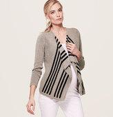 LOFT Maternity Texture-Stripe Cardigan