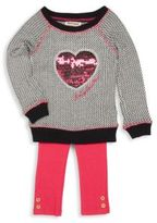 Juicy Couture Little Girl's Knit Pullover & Pants Set