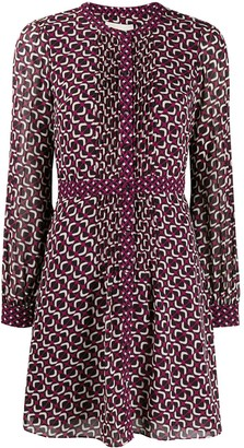 MICHAEL Michael Kors geometric georgette shirt dress