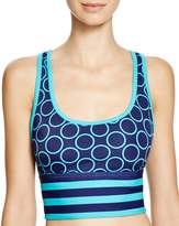 DKNY Close Up Racerback Crop Bikini Top