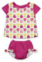 I Play 2-Piece Cap Sleeve Rashguard Shirt Set with Built-in Swim Diaper