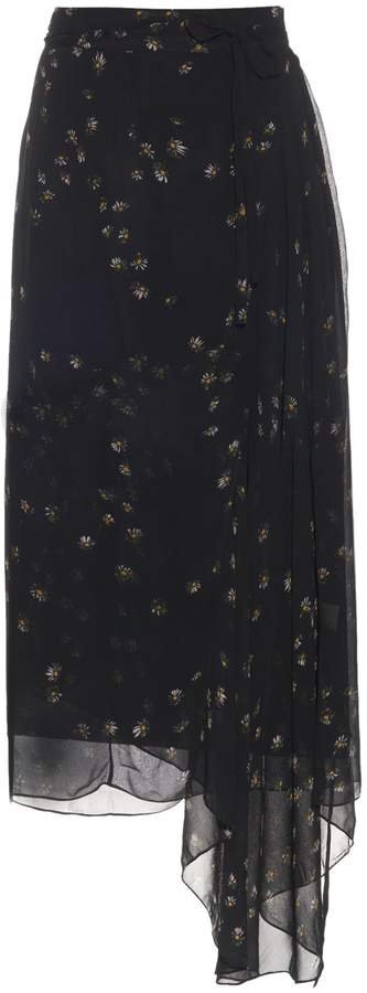 Preen Line Sadie daisy-print wrap skirt