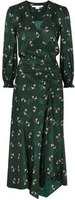 Veronica Beard Yasmeen floral-print satin midi dress