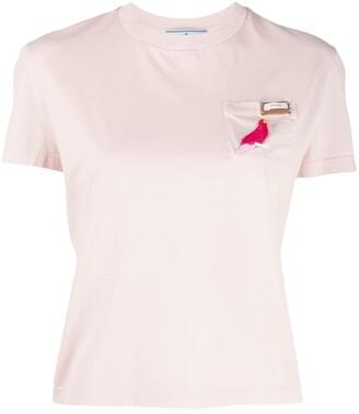 Prada bird applique T-shirt