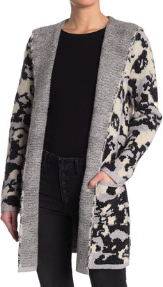Cyrus Camo Hooded Knit Cardigan