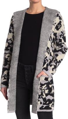 Cyrus Camo Hooded Knit Cardigan