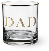 "Williams-Sonoma Williams Sonoma Gold Monogram ""Dad"" Double Old-Fashioned"