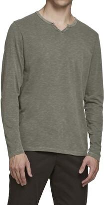 Jack and Jones Split Neck Long Sleeve T-Shirt