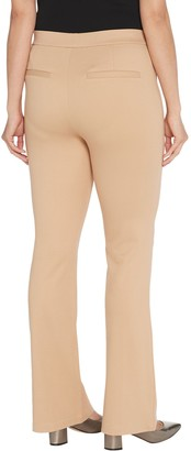 H by Halston Petite Ultra Knit Boot-Cut Pants with Pintuck Detail