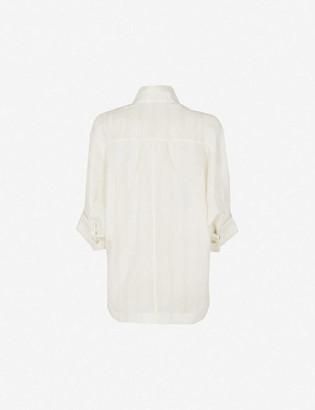 Ted Baker Oversized linen-blend shirt