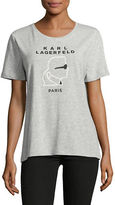 Karl Lagerfeld Paris Head Logo Tee