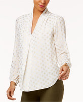 MICHAEL Michael Kors Metallic Print Top