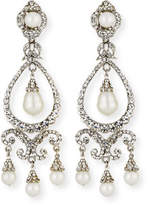 Jose & Maria Barrera Pearly Crystal Chandelier Clip-On Earrings