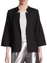 Halston Bell Sleeve Wool Jacket