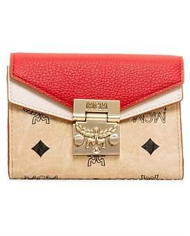 MCM Patricia Visetos Leather Block Sml Flap Wallet/Tri-Fold