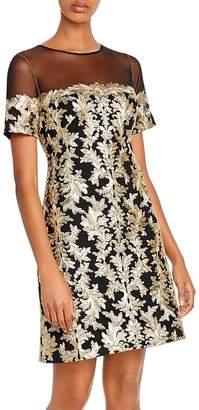Tadashi Shoji Embroidered Sequin Dress