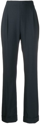 Romeo Gigli Pre-Owned 1998 High Rise Straight Trousers