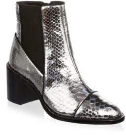 Alexandre Birman Margareth Metallic Python Boots
