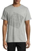 Public School Text-Print Graphic T-Shirt, Light Gray