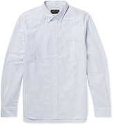 Beams Button-Down Collar Striped Cotton Shirt